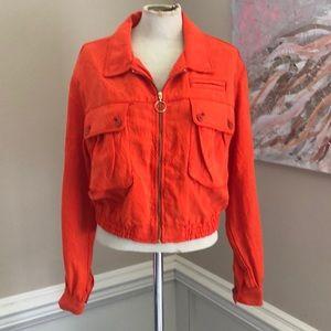 Anthropologie orange jacket sz small NWT